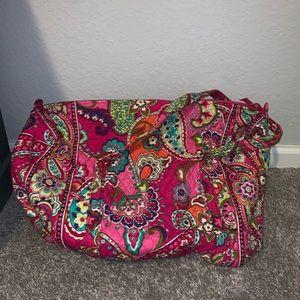 Vera Bradley Duffle Bag in Pink Swirls Pattern